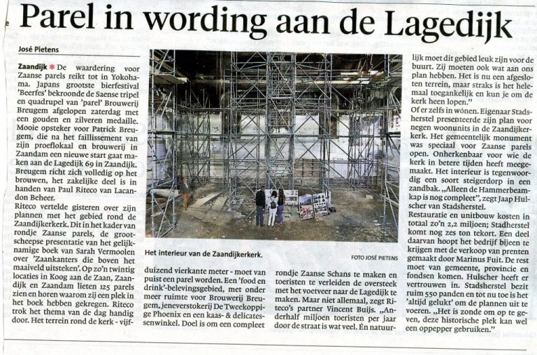 NH Dagblad/Dagblad Zaanstreek 15 september 2014