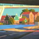 Schilderij Zaandam/Monet Peter de Rijcke